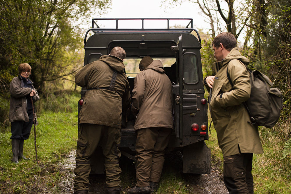 Getting ready by the Land Rover