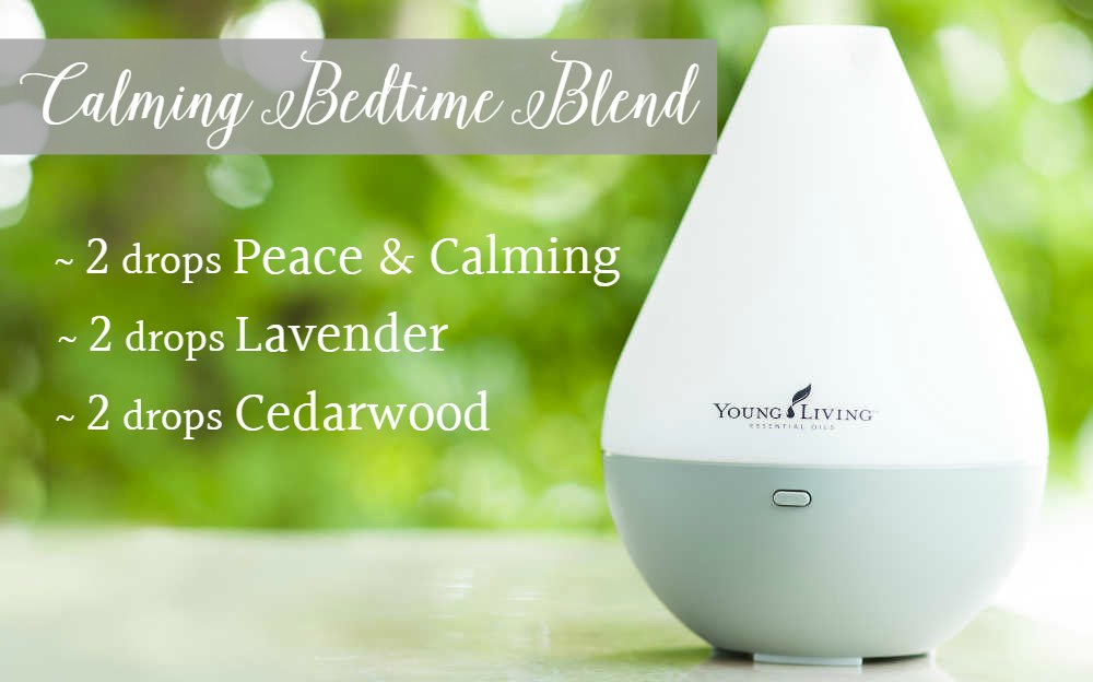diffuser bedtime routine essential oil blend