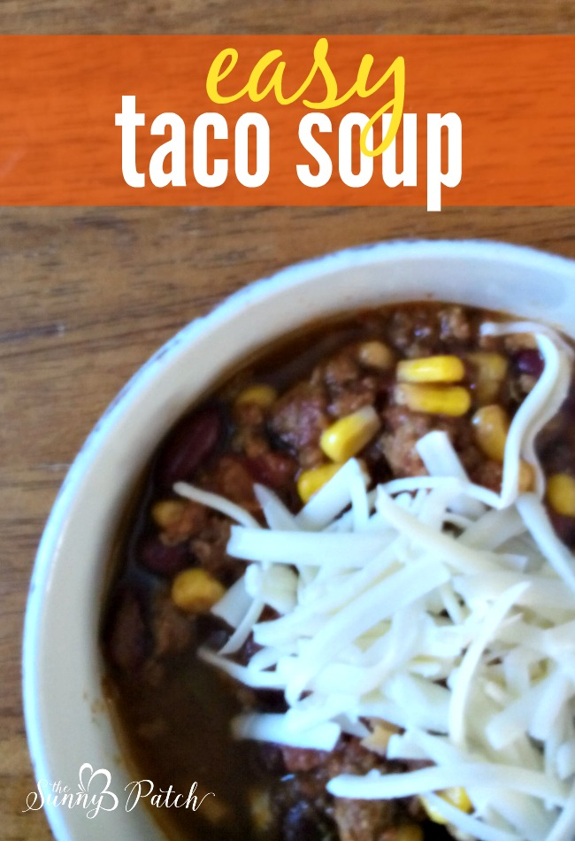 This easy crockpot taco soup using simple ingredients from the pantry to create a big pot of soup for just a few dollars. Definitely a great frugal meal!