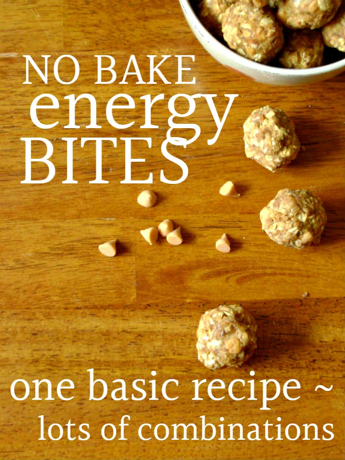 Need a quick & easy snack for kids? This easy no bake energy bites recipe will make the whole family happy {free printable chart with lots of variations!}