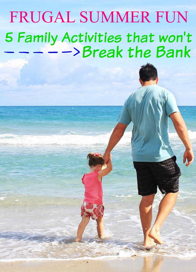 Need some inspiration for frugal summer fun? Check out this list of frugal tips and family activities to create some new family memories.