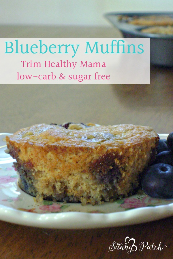 Start your day with a healthy breakfast. This low-carb, low-sugar, Trim Healthy Mama muffin mix is the perfect thing. Start your day with healthy breakfast - blueberry muffins!