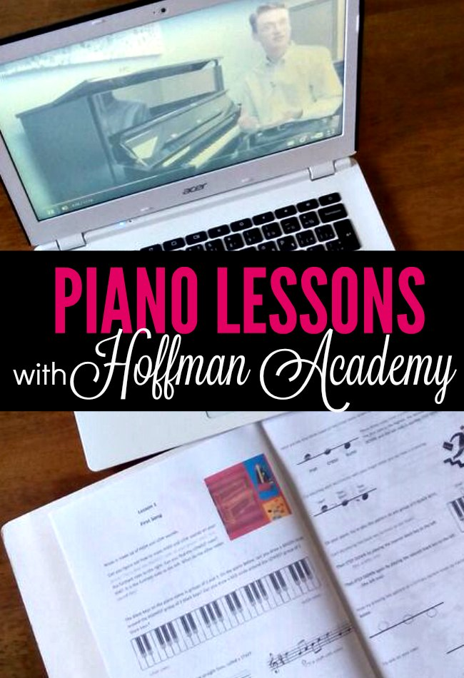 A look at Hoffman Academy online piano lessons - a review of the program, how we're using it, and what it looks like in our homeschool.