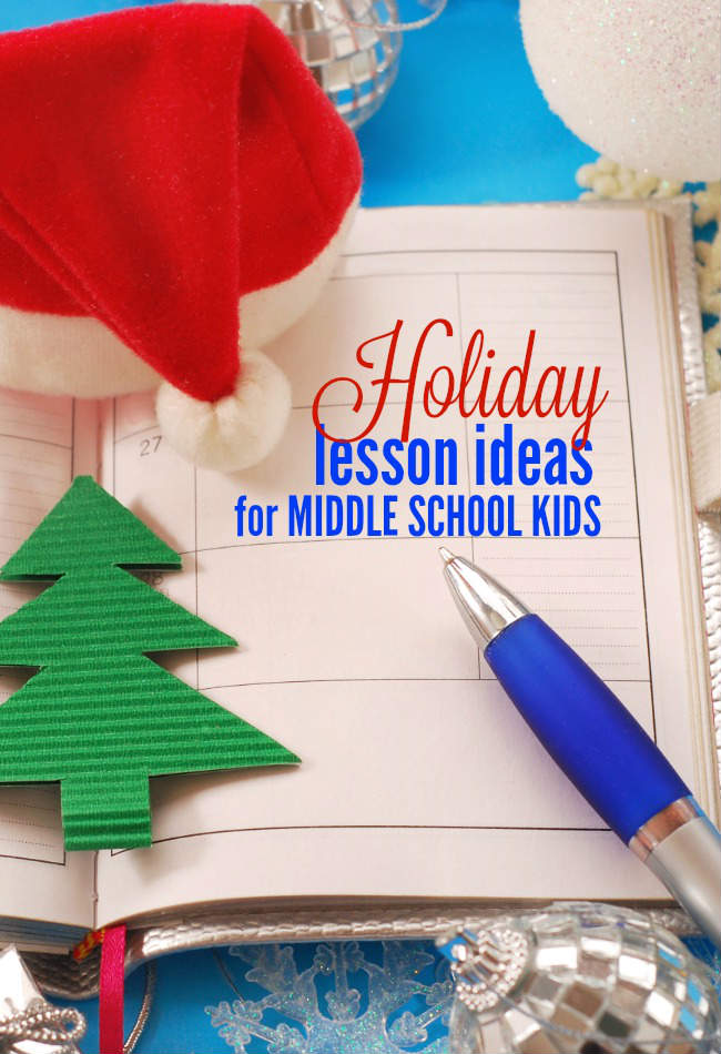When December rolls around and snow starts falling, we know Christmas is right around the corner. It's a little bit harder sticking to that daily homeschooling routine - even for older kids! It's the perfect time to include some fun Christmas lessons. Here are a few ideas for fun holiday lessons for middle school kids.