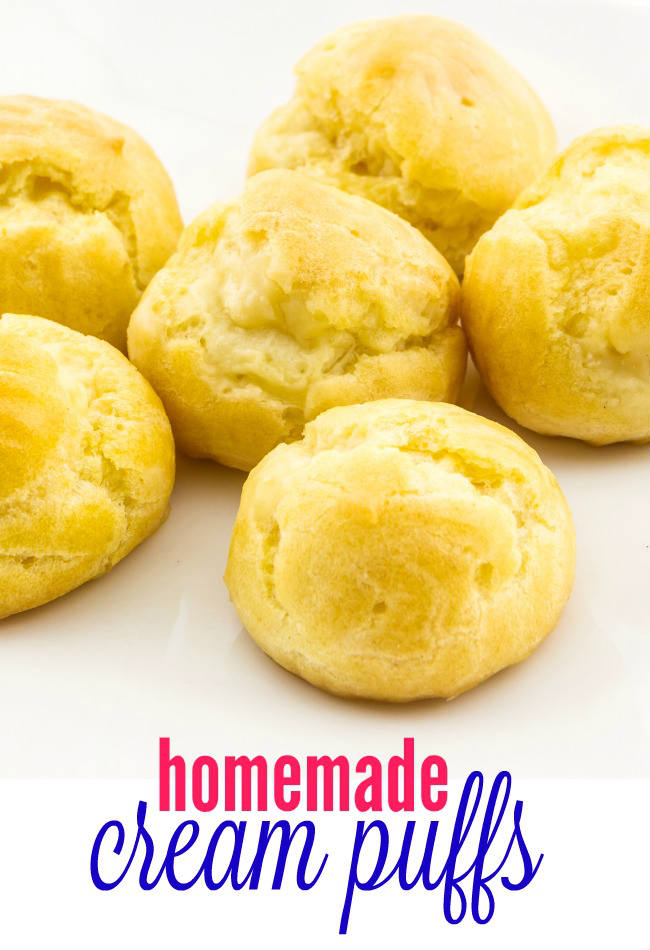 Cream puffs are a fancy dessert that's actually very easy to make. With just a few simple ingredients homemade cream puffs will be a big hit with your family and friends.