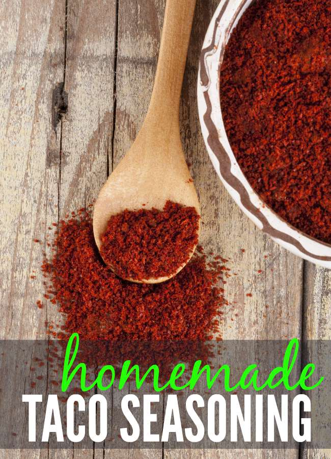 Making your own seasoning mixes is very easy (and less expensive). Here's a simple recipe for making your own homemade taco seasoning mix.