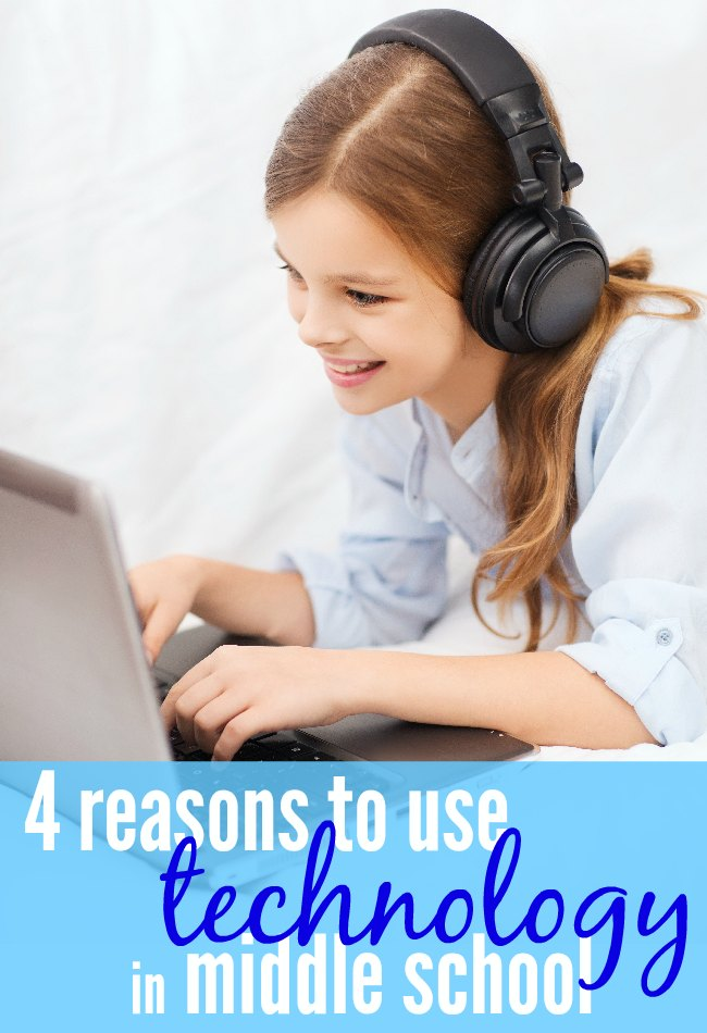 Homeschooling with technology - four reasons to use tech in middle school. Your middle school kids should be using a variety of tech while homeschooling. There are four reasons why you should be using online resources to homeschool middle school.