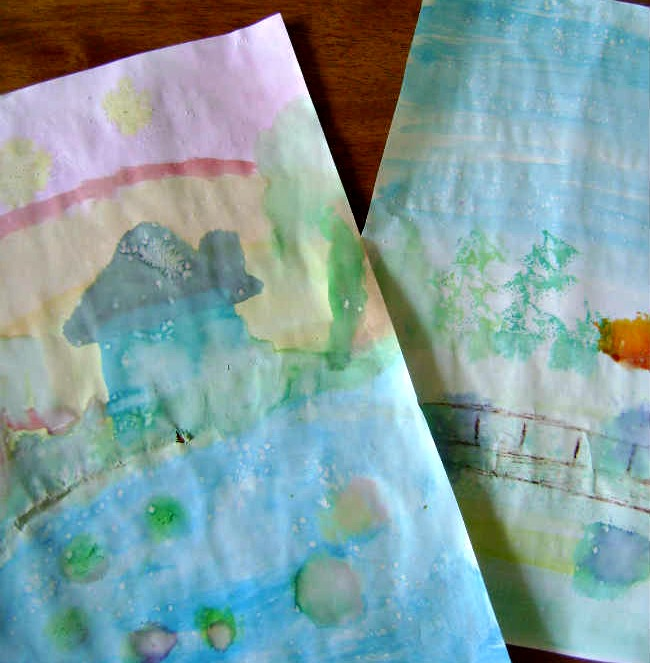 impressionist art projects for kids monet japanese bridge finished