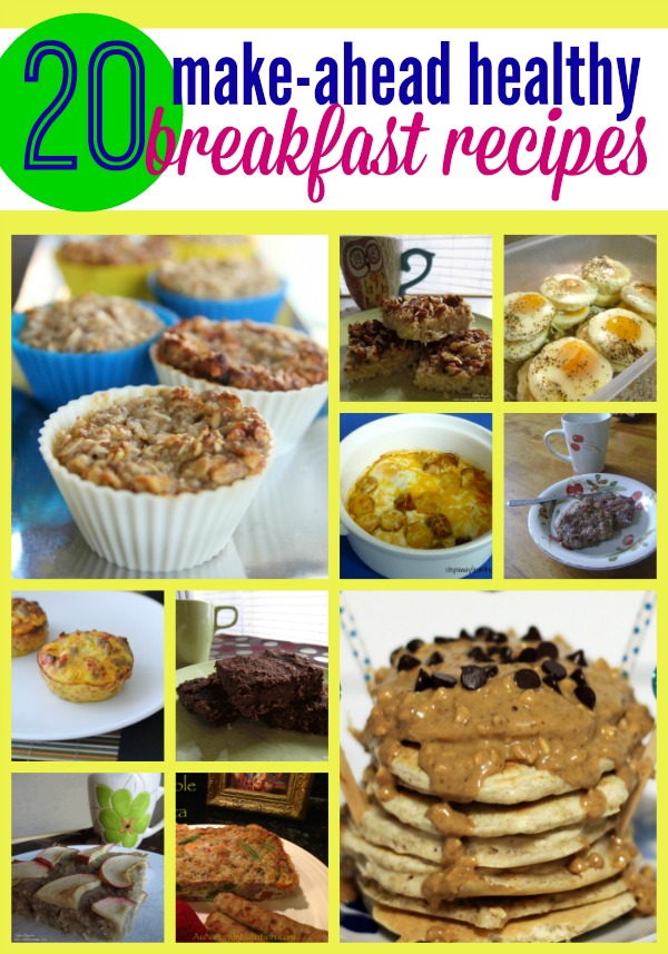 Make ahead healthy breakfast recipes - perfect for those busy mornings when you need something fast.