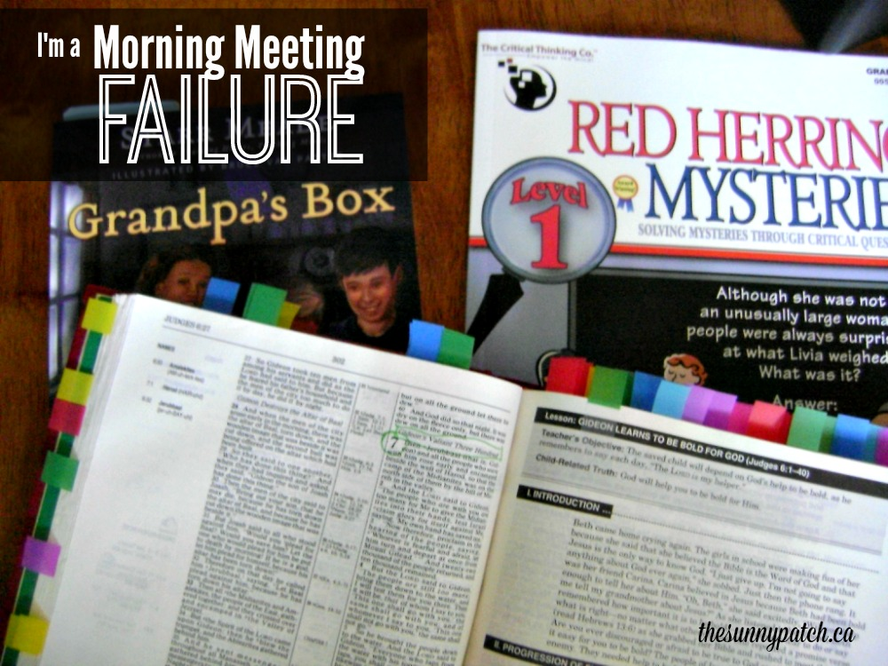 Tried a morning meeting in your homeschool but just couldn't do it? Me too! Come see how I'm fixing my morning meeting failure.