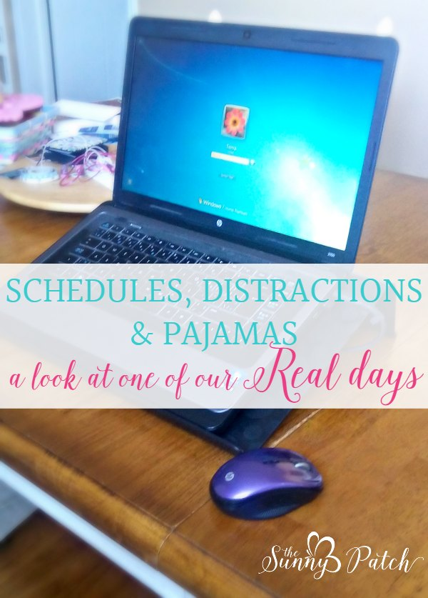 real day of a homeschool blogger