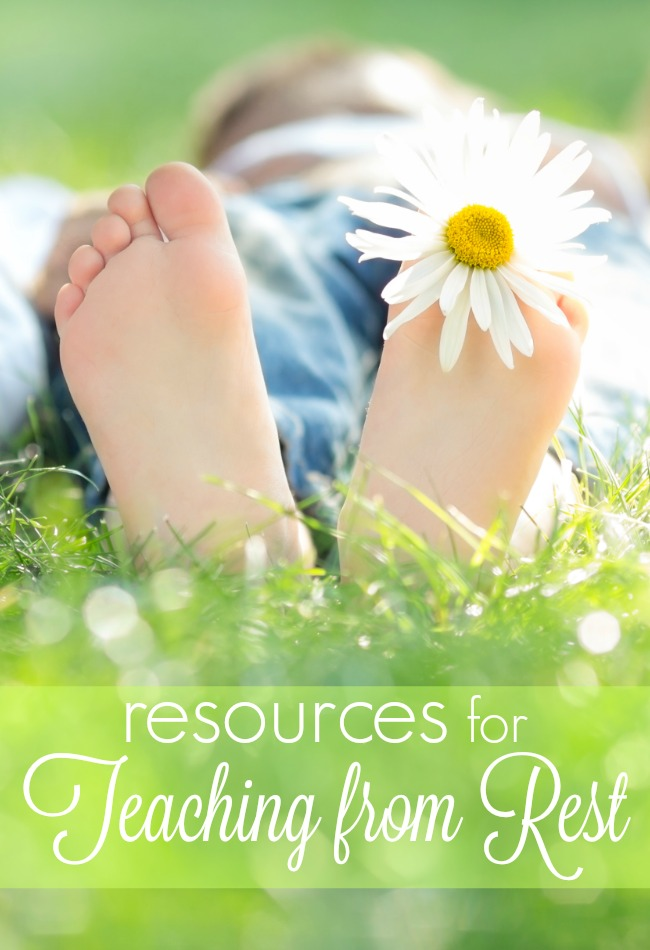 Homeschooling stress getting you down? Find your place of rest with these resources - learn about teaching from rest.