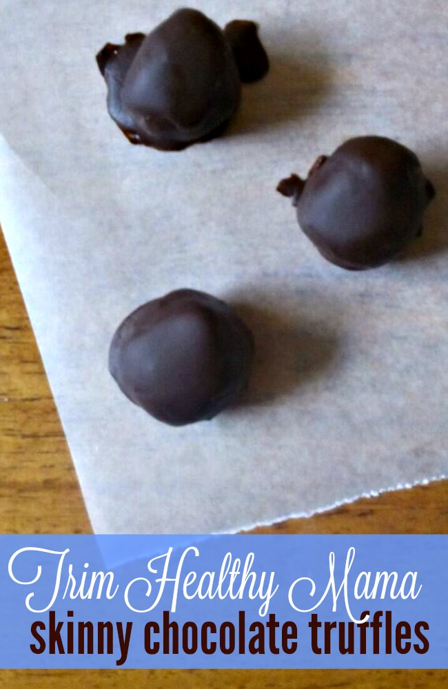 Skinny chocolate is a Trim Healthy Mama staple and now you can have skinny chocolate truffles with this simple recipe! Enjoy your healthy treats even when eating on plan!