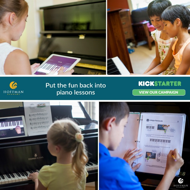 Support the Hoffman Academy Kickstarter Campaign - online piano instruction for all ages is just a click away!