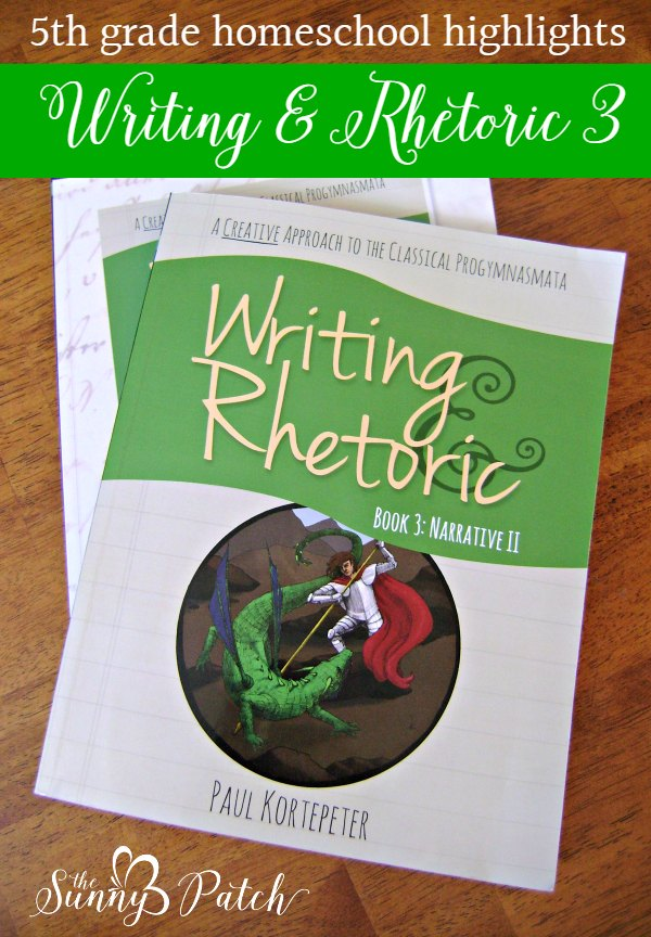 Get a peek at Writing & Rhetoric book 3 - a look at the materials and how we're using the series in our homeschool.