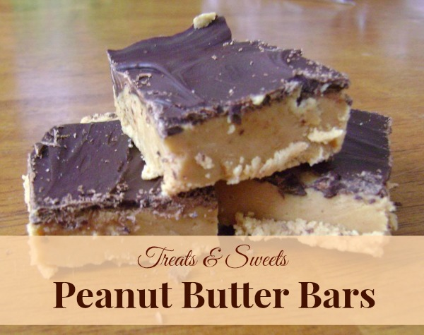 The perfect recipe for peanut butter bars. These make a great Christmas recipe for family and friends. If you love peanut butter cups, you'll love this recipe too!