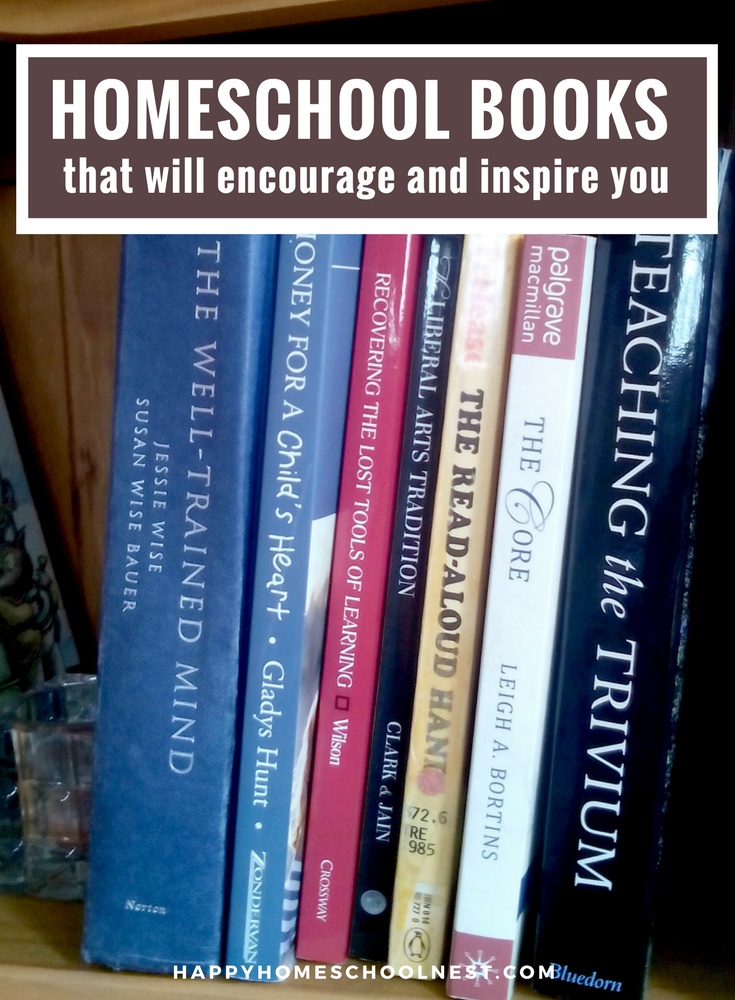 Need some homeschool inspiration? Take a look at my favorite encouraging homeschool books for moms. You'll find inspiration and encouragement to help you on your homeschooling journey.