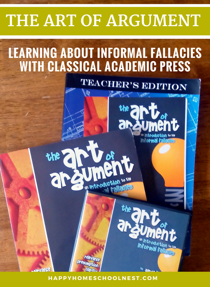 Learn about informal fallacies with The Art of Argument from Classical Academic Press. Middle school is a great time to introduce logic - kids at this stage are ready to discuss and argue - use it to your advantage and teach them to argue logically.