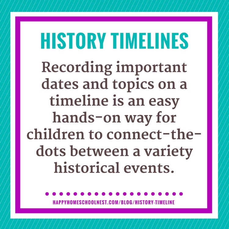 how and why to create a history timeline happy homeschool nest