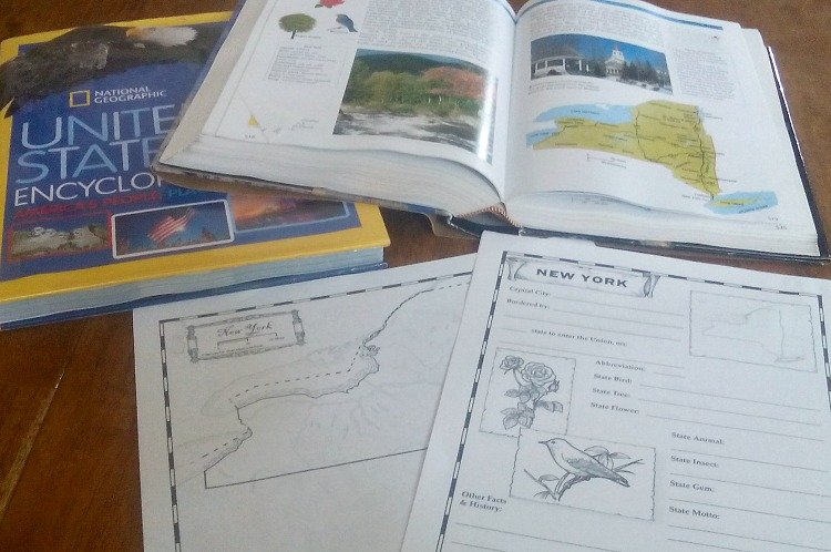 How To Create Your Own US Geography Study Happy Homeschool - Create Your Own Us Map