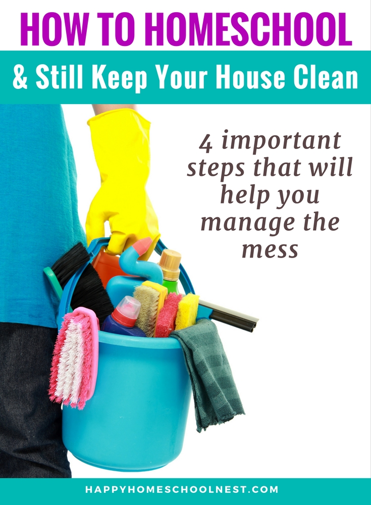 Housecleaning is often the bane of a homeschool mom's existence. When you're spending your days corralling kids and working on school, at the end of the day housecleaning is the last thing on your mind. That's why simple routines and systems are the best way to juggle homeschooling and skill keep your house clean. It's taken me a few years to find a manageable routine to keep up with it all, but I promise you can do it too!