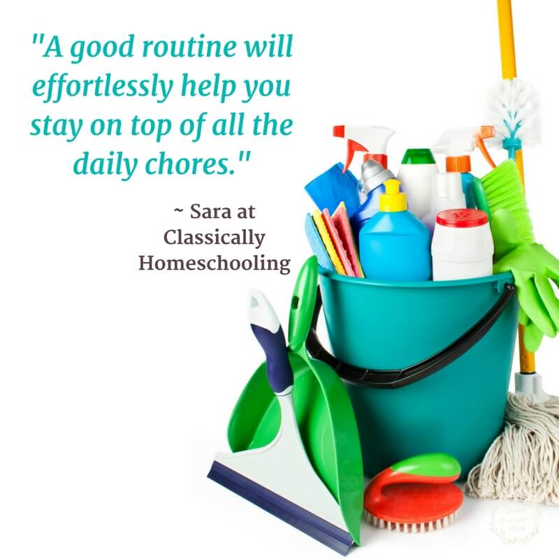 Homeschooling and maintaining your home at the same time is possible - it just takes some thought and planning. I've asked some homeschool friends to share their best tips - and they delivered! Find out how other homeschool moms manage their home with simple systems (and still get homeschooling done!).