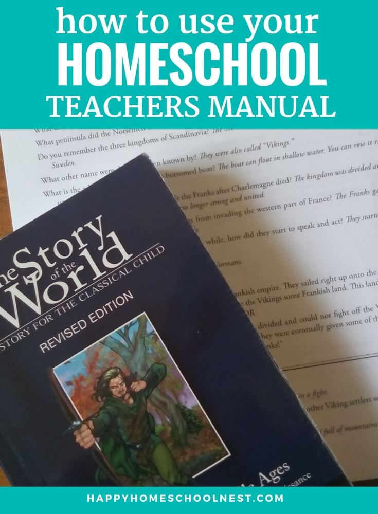 What's the point of a teacher's manual, anyway? It's an answer key, of course, but sometimes we let this important tool become the master of our homeschool. Have you made the mistake of letting your teacher's manual boss you around, homeschool mom?