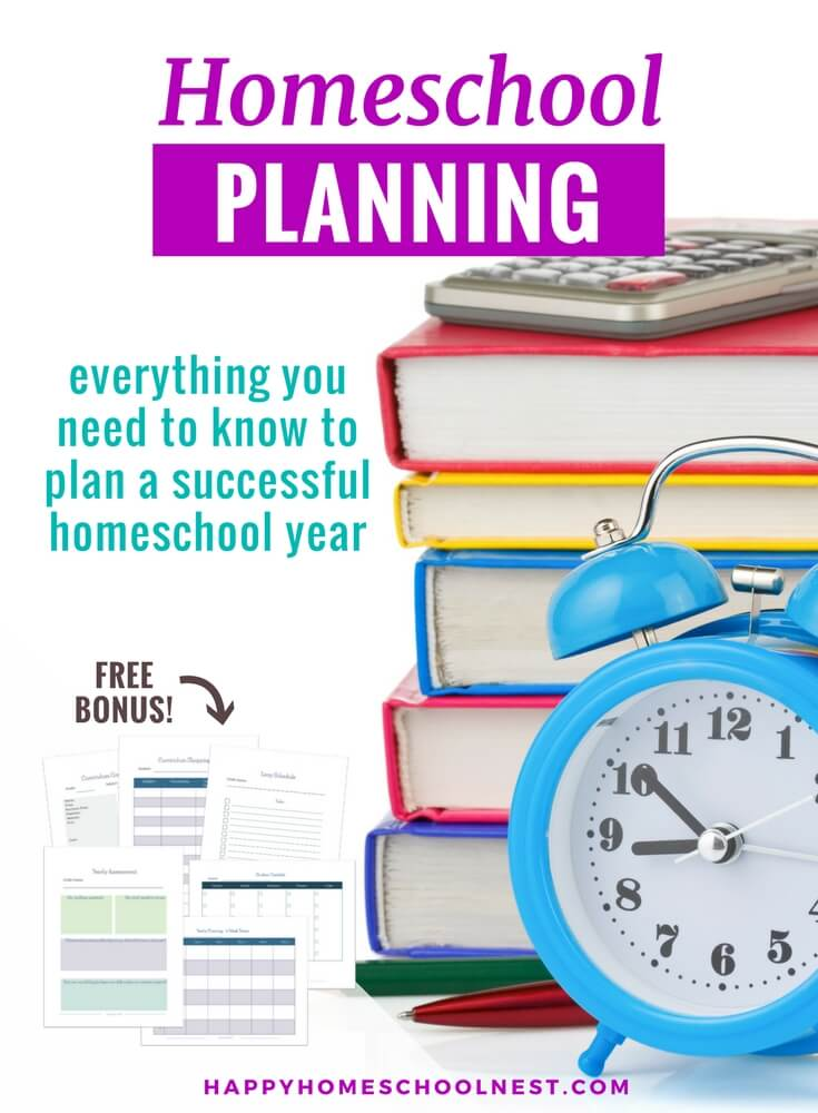 Getting ready to plan your homeschool year? Homeschool planning and keeping your homeschool organized can feel like a full time job! Choosing curriculum, scheduling everything you need to cover, and planning your day can take all the joy out of homeschooling. Let's break it down step-by-step so you know exactly what you need to do - and when you need to do it!