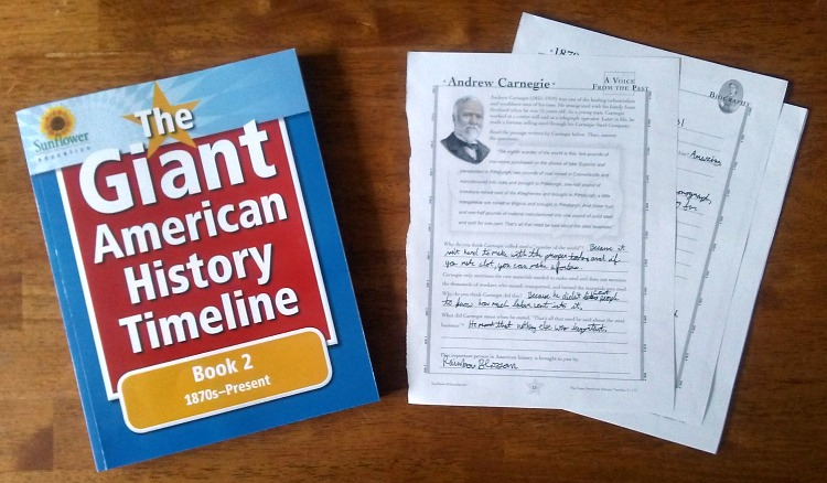 Are you looking for an interesting way to teach American history? You need to take a look at The Giant American History Timeline. It's such a fun way to learn about history! Have your kids complete various activity pages and then use them to build timelines that show how various historical events and people are connected. It's a great tool for understanding historical context and for making history come alive!