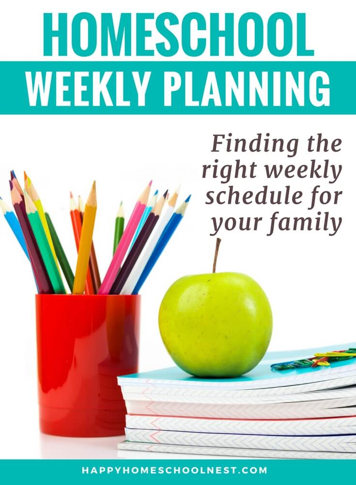 It takes some time to find the right weekly homeschool schedule. You may have to try a few (or combine a few) before you find what works. But, before you can discover what works, you need to know what options are available. Thankfully, there are plenty of options - and you're sure to find a weekly homeschool schedule that fits your family.