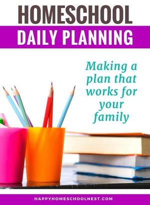 Creating A Daily Homeschool Schedule For Your Family Happy
