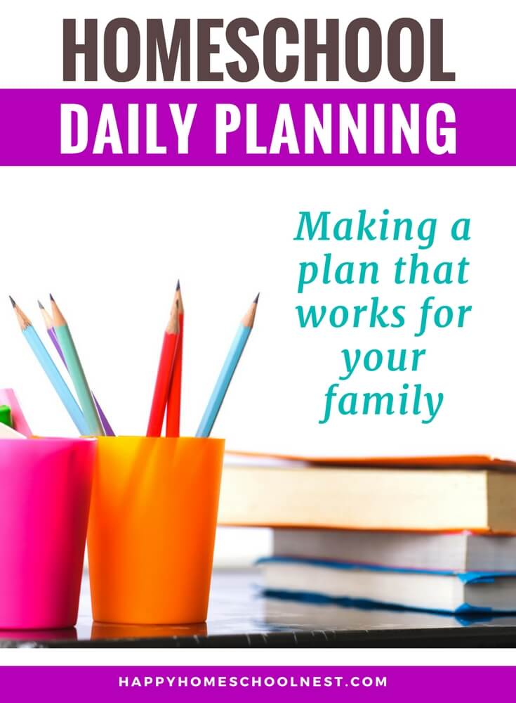 Planning a homeschool year can often feel like more fun than the actual homeschooling - the pretty calendars, checklists, and even color-coded spreadsheets. But, when it comes down to getting the work done, those pretty planning pages won't do any good if you don't have a plan to actually complete the work. A consistent daily routine or schedule is an important step in the planning process (yes, even more important than those pretty planning pages). Let's look at a few ways you can find a daily homeschool schedule that works for your family.