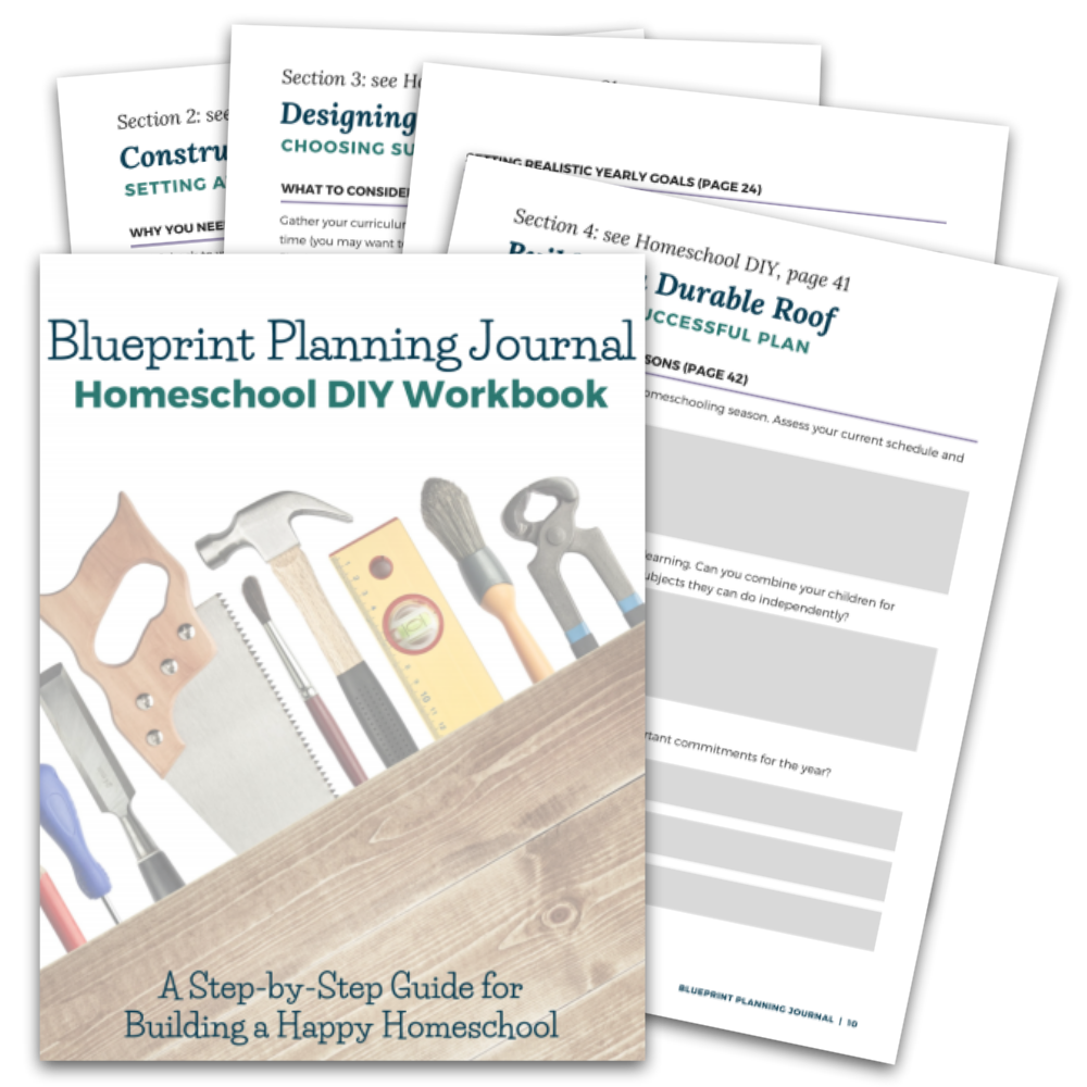 Homeschool DIY planning journal - a workbook that will help you plan and prepare the right homeschool for your family.