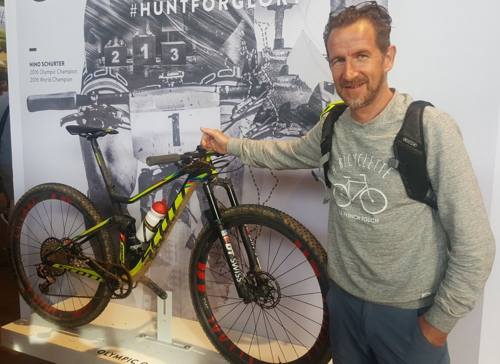 At the Eurobike 2016, Friedrichshafen Germany, with Nino Schurters Olympia Gold Bike