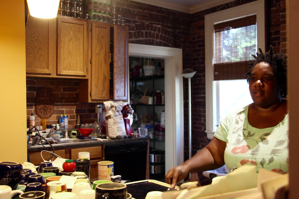 Tanya, taking orders for pancakes from her open kitchen.