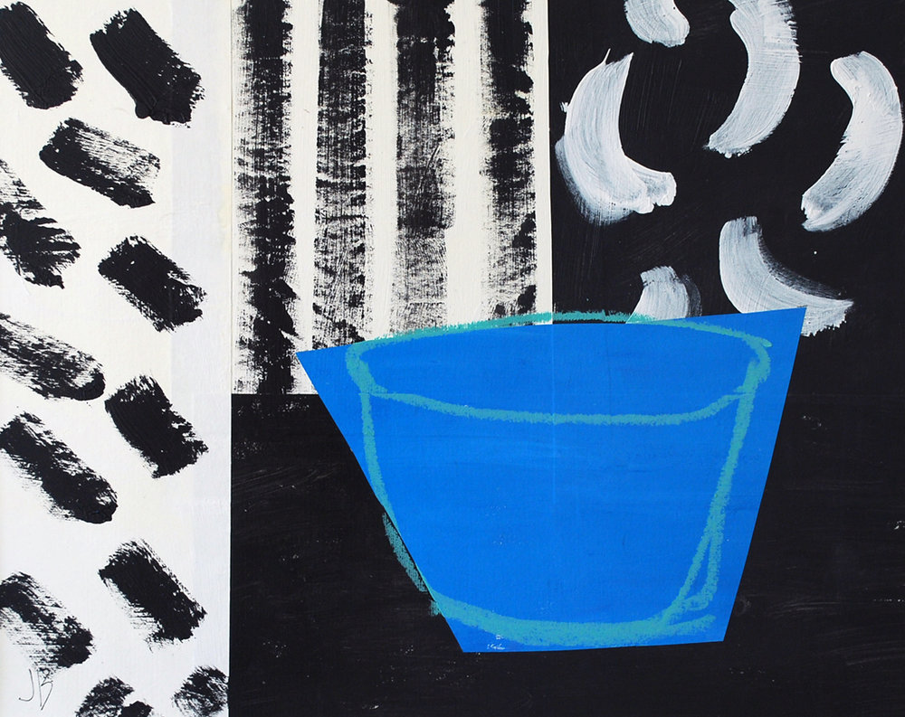 Blue Bowl Black & White | 60cm x 50cm