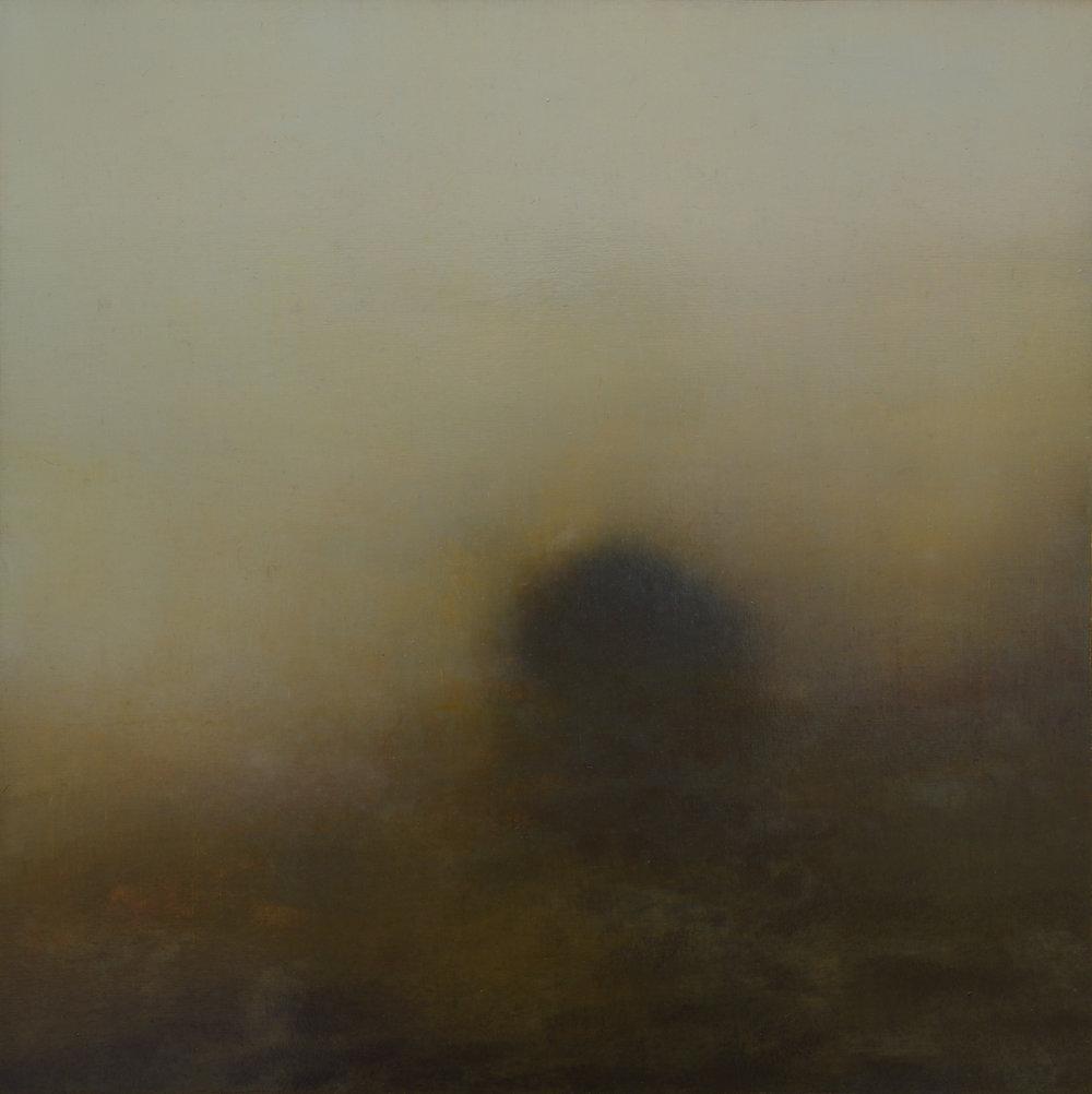 Dark Brushed Soul | 40cm x 40cm Oil on Panel (Framed)