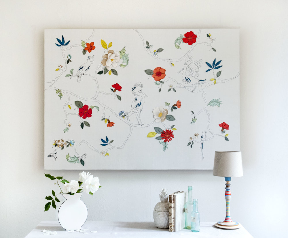 Tropical Garden | 200cm x 200cm Wallpaper/ Embroidery