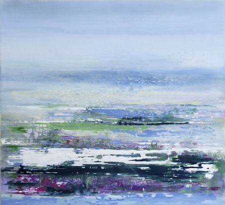 Cliff Meadow | 110cm x 100cm Oil on Canvas