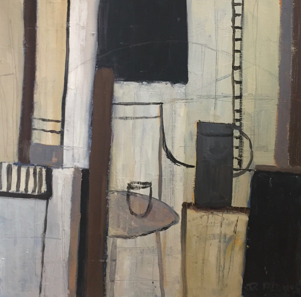 Interior with Black Pot | 77cm x 77cm Oil on Canvas