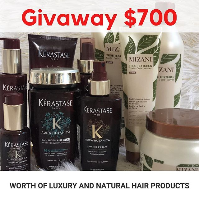 This giveaway is ending soon. A $700 worth of luxury and natural hair products from @kerastase_official and @mizani. The rules are very simple! ****** To enter the giveaway ****** 1.  Follow @hairdotcom 2.  Like this photo  3.  Comment below with #sweepstakes and why you want to win **************** شروط المسابقة ١. تابع حساب @hairdotcom  ٢. سوي لايك لهذا الفديو ٣. اترك تعليق اكتب بي ليش تتمنى ان تربح مع هاشتاك  #sweepstakes ************* Here's a direct link to the complete rules https://www.hair.com/trending/news/hair-sweepstakes This giveaway is open only to legal residents of the US.  المسابقة حصريه للناس الي عايشين بالولايات المتحدة الأمريكية.  #Hairdotcom #Sponsored