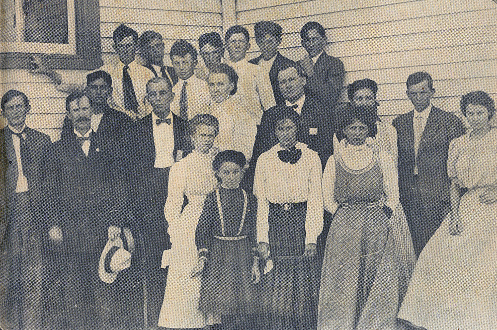 Connors State School of Agriculture inaugural class, 1909.