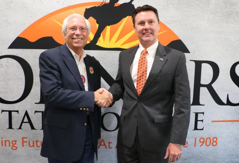 Cherokee Nation Principal Chief, Bill John Baker, and CSC President, Dr. Tim Faltyn