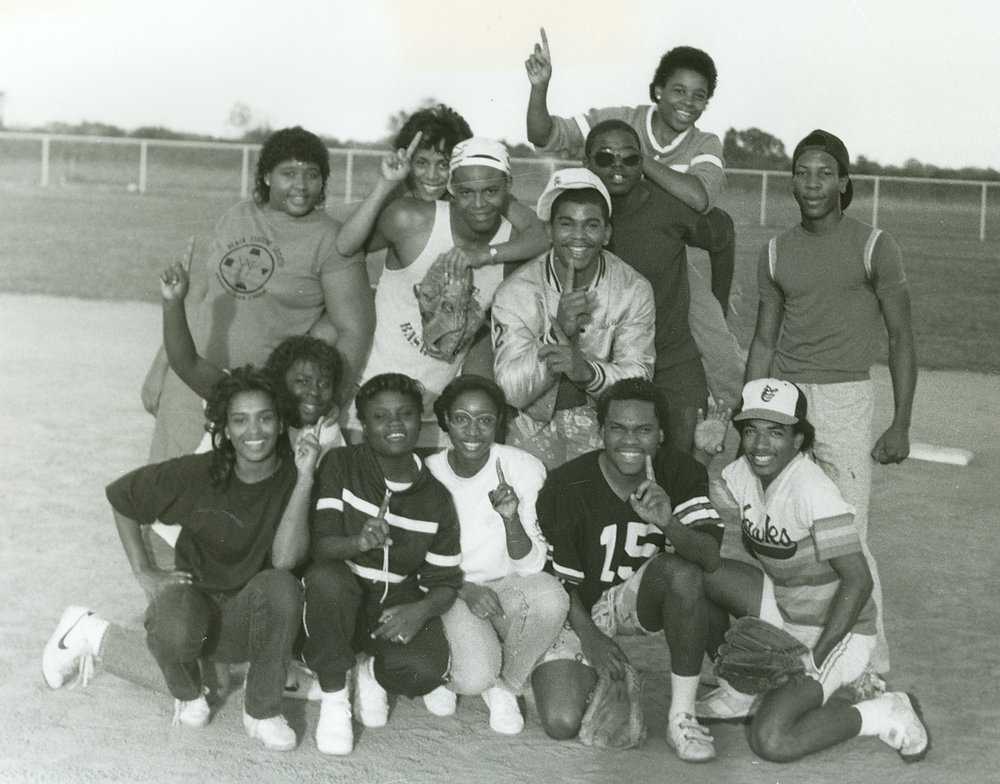 Black Student Society softball team 1985