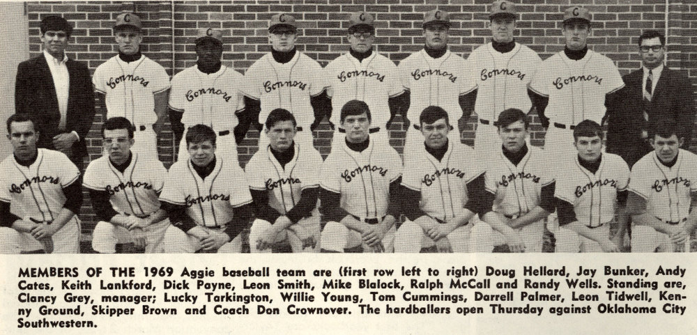 During the 1968-69 season, the Cowboys earned Conference Champion honors under Head Coach Don Crownover.