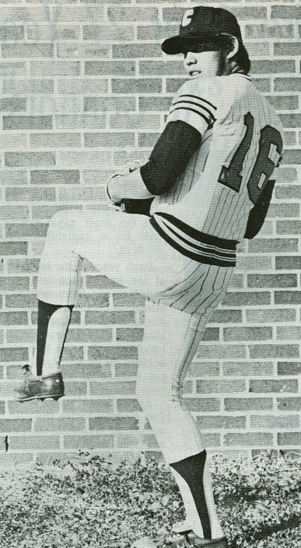 Cowboys Pitcher Ken Palmer played under Coach Crownover, 1976.