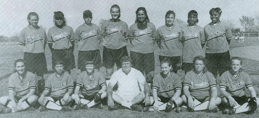 Members of the 1995-96 Cowgirls Regional Championship team.