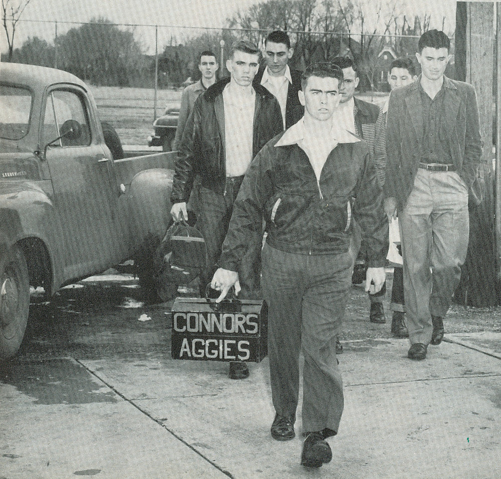 On the road 1952
