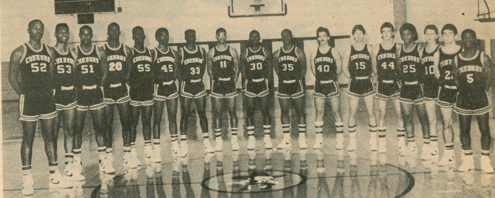 Men's Basketball Team 1986-87