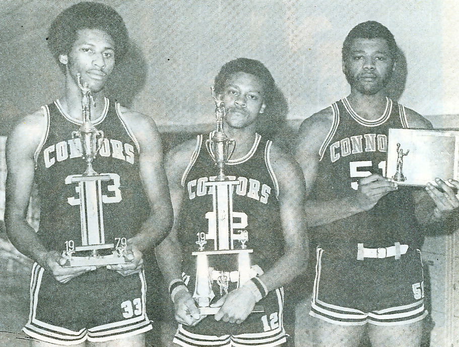 MVPs and All Tournament: Louie, Shepard, Kirby. 1979.